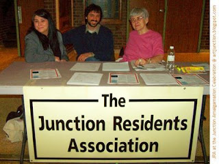 The Junction Residents' Association at the Junction Amalgamation Celebration, May 1, 2009, Photo by artjunction.blogspot.com