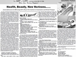Art of Life Health Centre: Health, Beauty and New Horizons: Treatments in Compression and Infrared Therapy