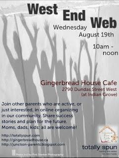 Flyer: Toronto Junction West End Web: Junction Parents: Raising An Online Community