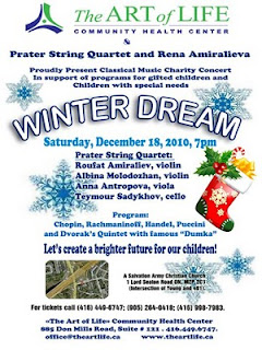Winter Dream Charity Concert Prater String Quartet and Rena Amiralieva, by The Art of Life Community Health Centre