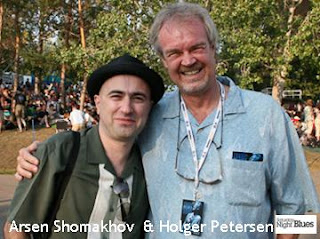 Arsen Shomakhov and Holger Petersen, Saturday Night Blues Canada, by artjunction.blogspot.com