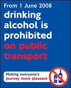 alcohol ban poster