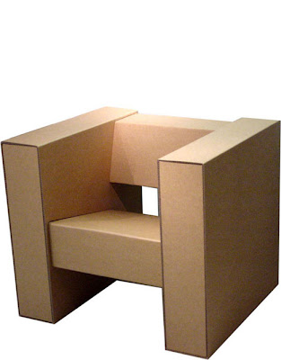 Boxylady cardboard chair from returdesign designed from cardboard to