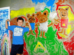 Greyson's Alvin & the Chipmunks wall