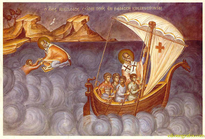 St. Nicholas saving on sea