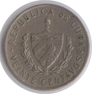 Veinte Centavos Cuba 20 Центов (центаво) Куба Нумизматика  moneda antigua Ancient coin altertümliche Münze Kubas ancienne pièce Cube