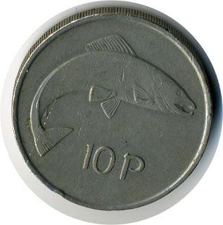 Coin of Europe Ireland KM#29 10-pence Монеты Европы Старинная монета Ирландии Serie der Münze Europas Die altertümliche Münze Irlands série de la Pièce de l'Europe La moneda antigua de Irlanda serie de la Moneda de Europa La moneda antigua de Irlanda