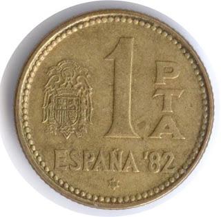 moneda antigua pta peseta песета Испания España altertümliche Münze Spaniens ancienne pièce de l'Espagne