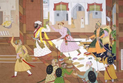 Shivaji audience with Aurangzeb