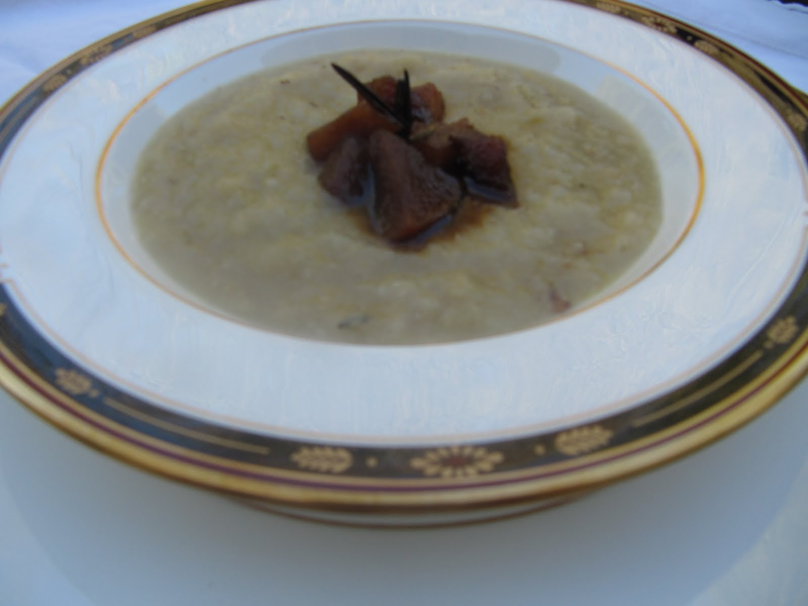 Celery Root and Caramelized Pear Soup