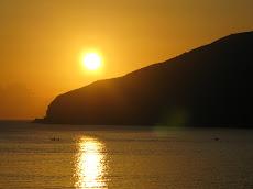 El sol es el corazón de una naranja.