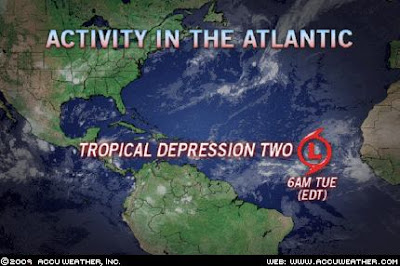 >Weather News grabbing the headlines. Depression 2 forms in eastern Atlantic