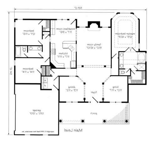 Bathroom floor plans jack jill home decorating Jack and jill house plans