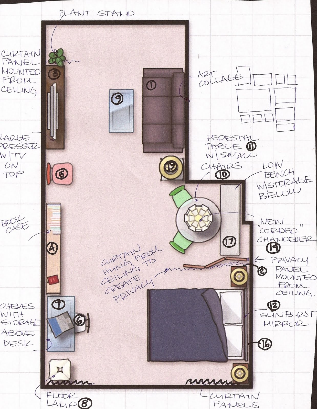 Tiny apartment design pictures apartment design ideas for Studio apartments plans
