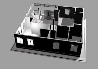 rekaan rumah kampung 40kaki x 40 kaki