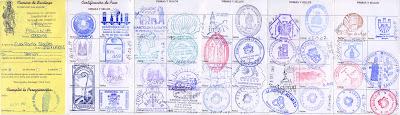 mój credencial czyli paszport pielgrzyma z roku 2007