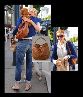 Blake Lively spotted with her Huge Hillier in tan. Marc Jaobs Hillier Tan