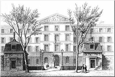 Gravat de la seu de l'Institut de Jeunes Aveugles, a París (1844)