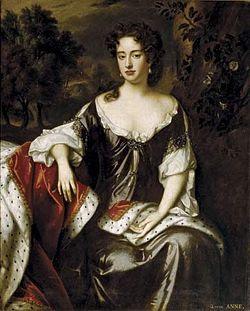 Retrat de la reina Anna I de Gran Bretanya i d'Irlanda, per William Wissing