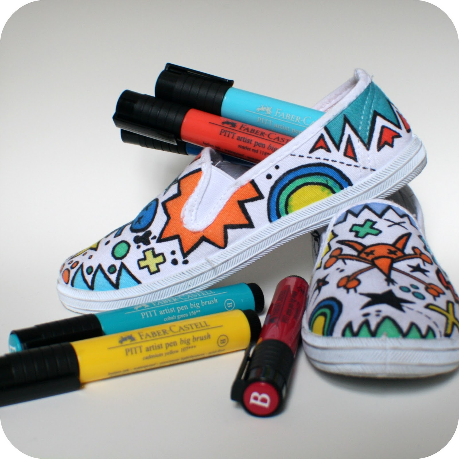 the craft revival canvas shoe makeover tutorial