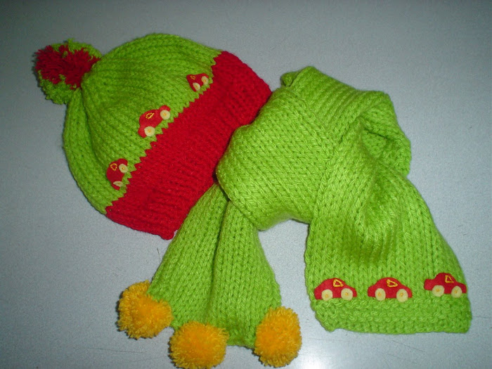 GORRO Y BUFANDA - ( HAT AND SCARF )