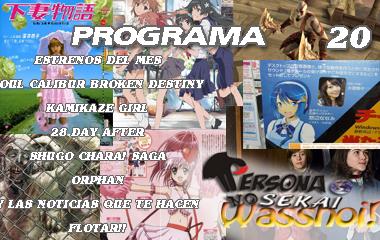 Persona No Sekai Wasshoi! programa 20 Radio Anime Podcast