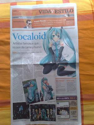 Hatsune Miku in news El universo Ecuador