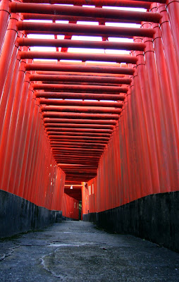 Torii tunnel, Fukutoku Inari Jinja