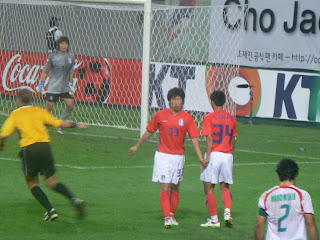 Lee on national duty with Park Ji-sung
