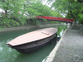 Boat on the Suimon River
