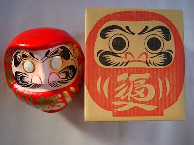 Large Daruma and box