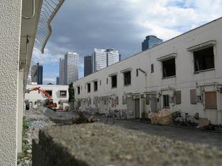 Japan Tobacco dormitories being demolished, Nakano, Tokyo.
