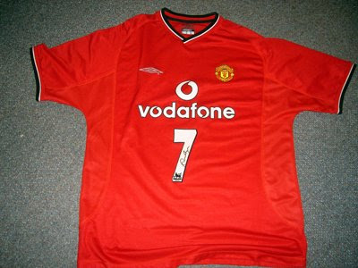 Signed Man Utd David Beckham Shirt