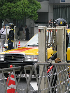Street security for Prime Minister Putin's visit to Tokyo, May 12 2009.