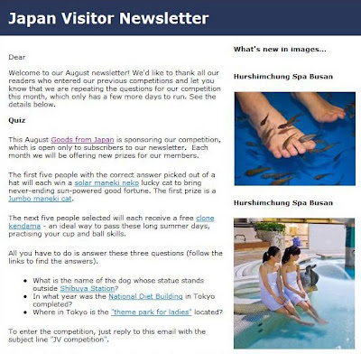 Japan Visitor August Newsletter
