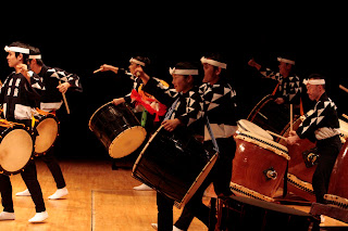 Kodo drummers in concert