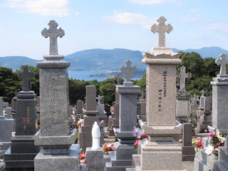 Tabira Church Hirado graveyard