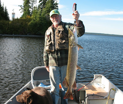 Dan and Sam with fall pike