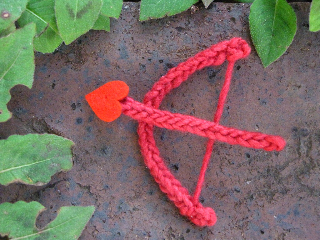 Valentine Knitted Cupid Bow and Arrow... - Natural Suburbia