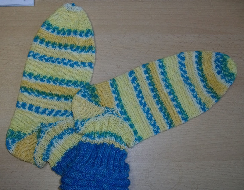 the next sock already on the needles .. but it takes a while because  title=