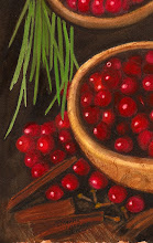 Cherries in burl bowl(watercolor)