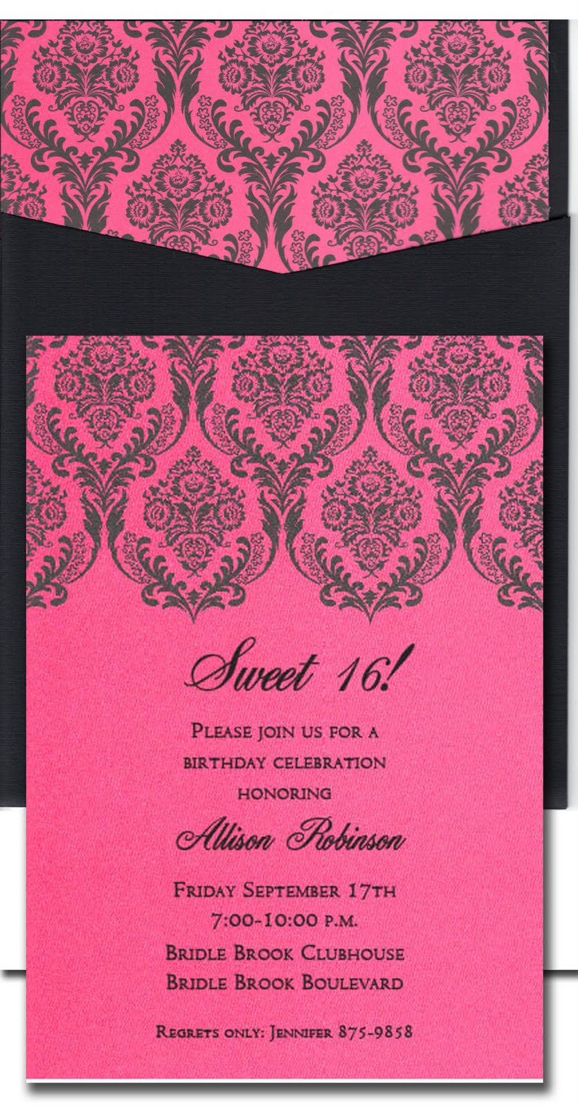 Paper celebration sweet 16 party invitations sweet 16 party invitations monicamarmolfo Image collections