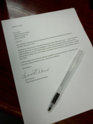 resignation letter 2 week notice. example letters of resignation