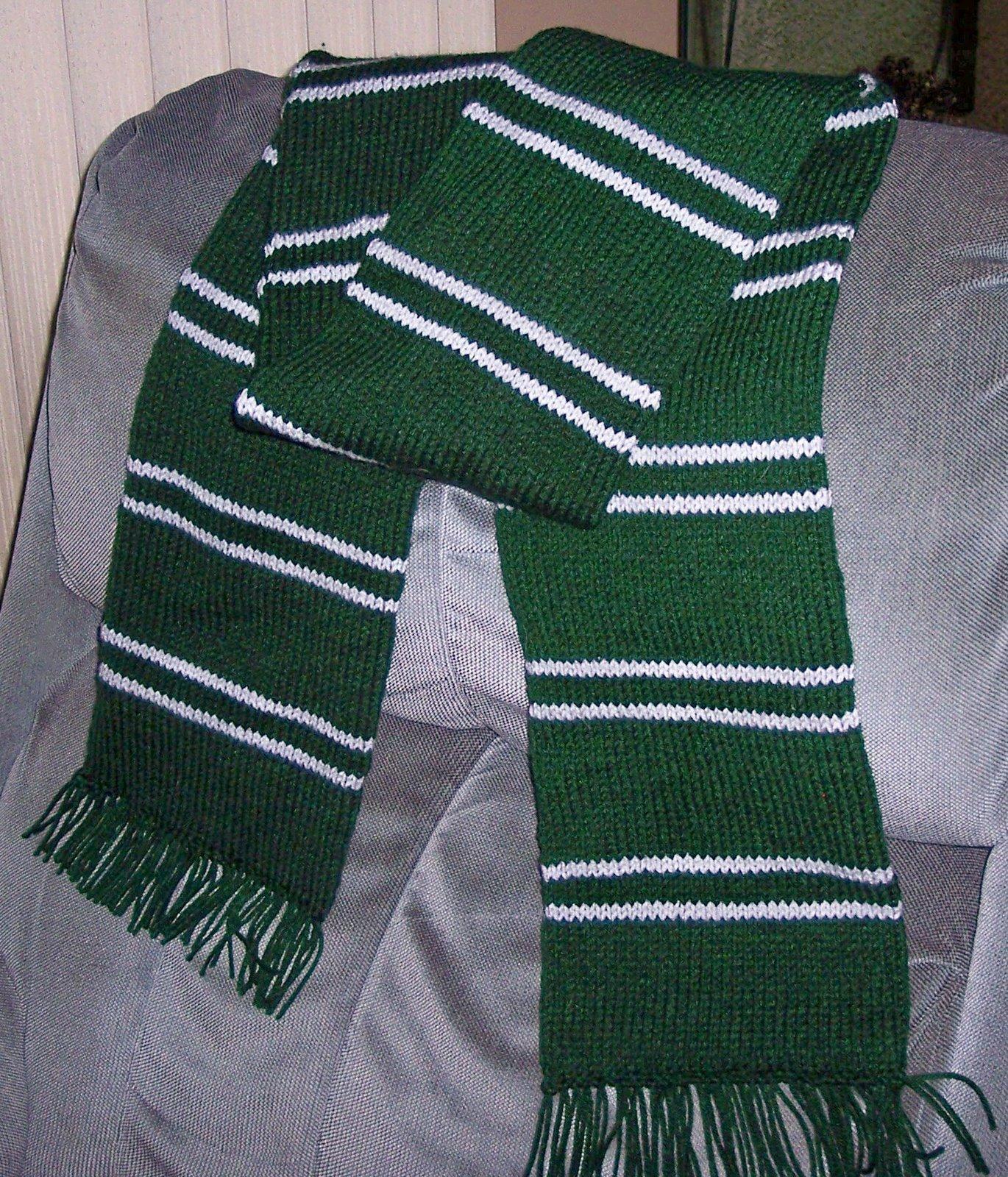 Slytherin Scarf Knitting Pattern : Crochet Knit Pattern Scarf Crochet Learn How To Crochet Rachael Edwards