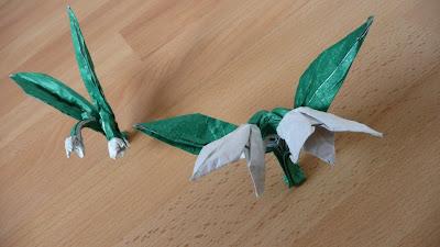 Origami snowdrops