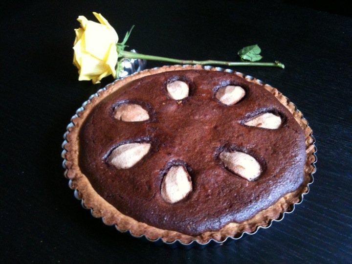 Double Chocolate Pear Tart - Swati Gehlot