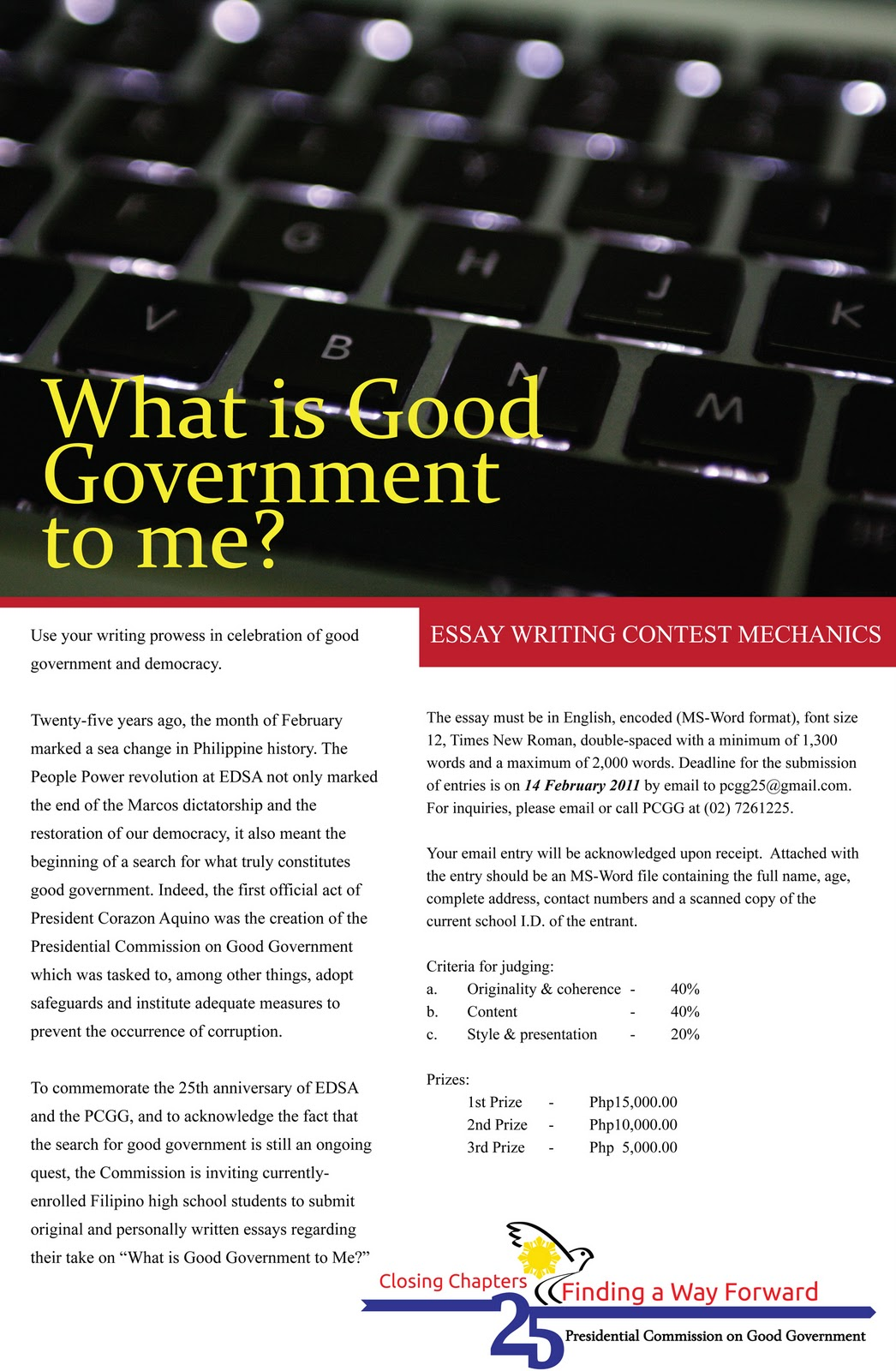 good governance 2 essay Need essay sample on good governance we will write a cheap essay sample on good governance specifically for you for only $1290/page.