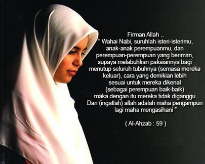 ... islam memerintahkan agar wanita berjilbab untuk apa wanita berjilbab