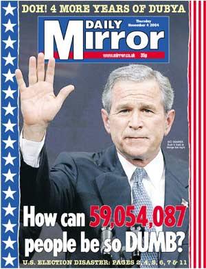 Daily Mirror 4 November 2004