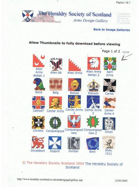 Armoriale di Scozia  :Arma della Dinastia  Aprile(April)